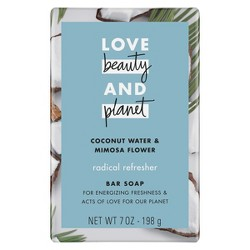 Love Beauty And Planet Coconut Water & Mimosa Flower Bar Soap - 7oz
