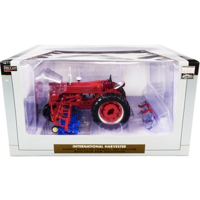 """International Harvester Farmall 400 Tractor with Four Row Cultivator """"Classic Series"""" 1/16 Diecast Model by Speccast"""