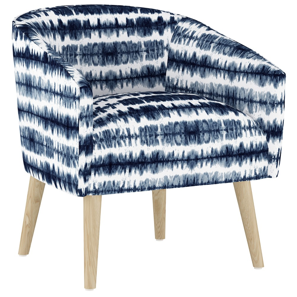 Natalee Chair Navy/White Stripe (Blue/White Stripe) with Natural Legs - Cloth & Co.