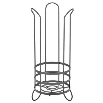 mDesign Metal Toilet Paper Holder Stand - Storage for 3 Rolls