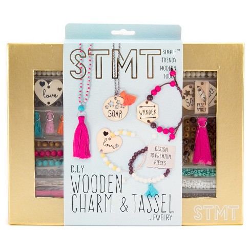 STMT Wooden Charm and Tassel Craft Kit - image 1 of 4