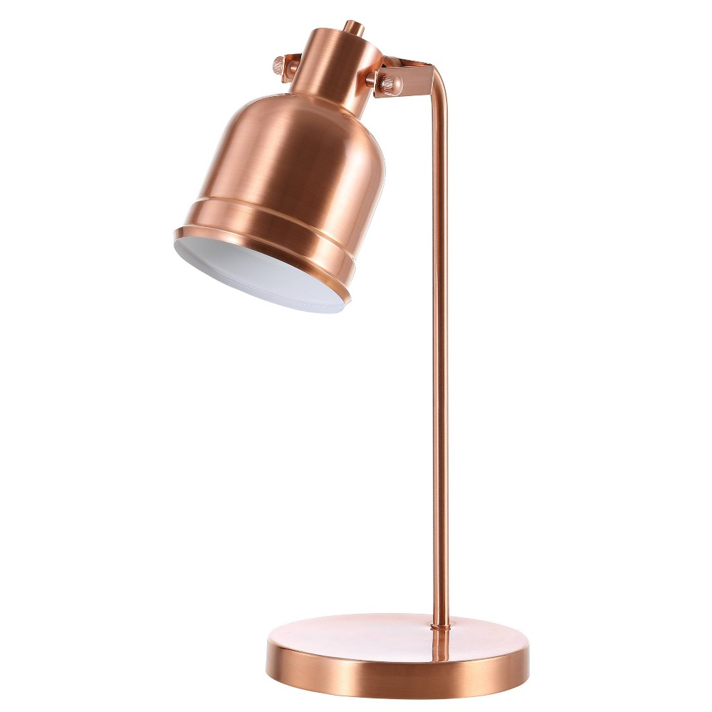 "Image of ""18"""" Edgar Metal LED Task Lamp Copper (Includes Energy Efficient Light Bulb) - JONATHAN Y"""