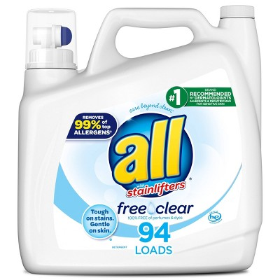 All Free Clear Liquid Laundry Detergent 94 Loads - 141 fl oz