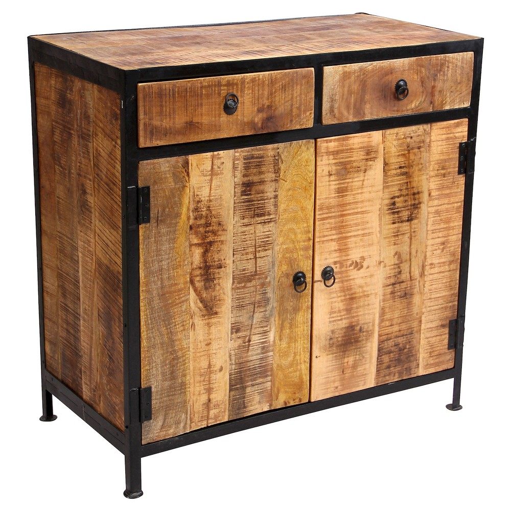 Industrial Sideboard Cabinet 35 x35 x18 Reclaimed Wood Iron Natural Timbergirl