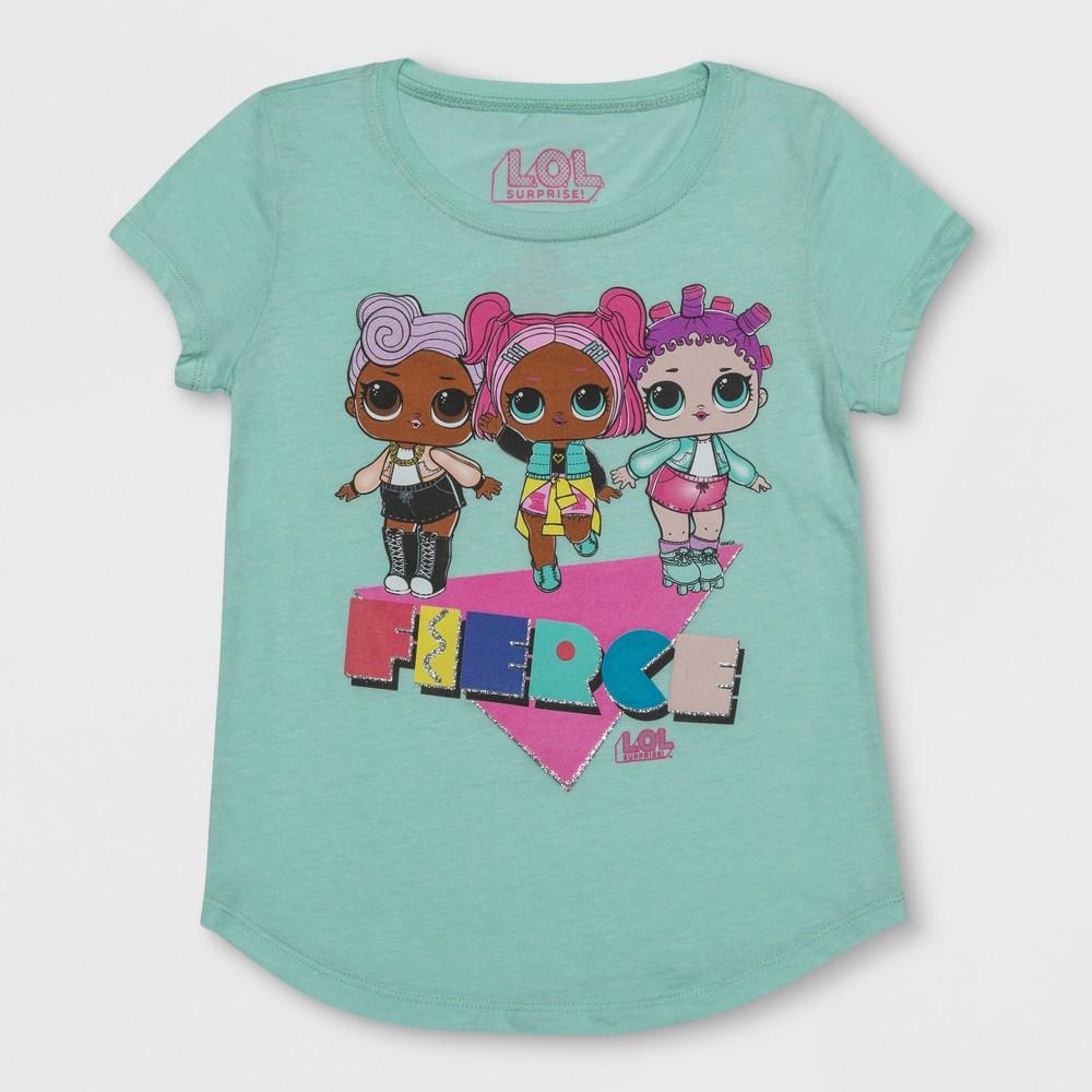 Girls' L.O.L. Surprise! Fierce Short Sleeve T-Shirt - Green L