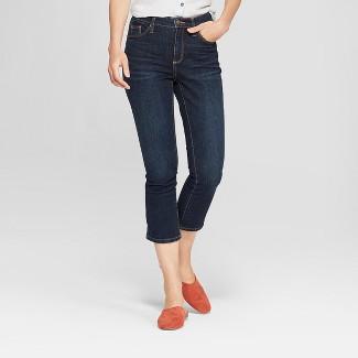 Women's High-Rise Kick Boot Crop Jeans - Universal Thread™ Dark Wash 6