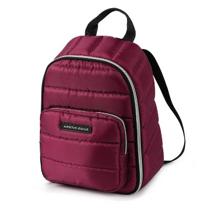 Arctic Zone Quilted Cooler Lunch Bag - Red Violet