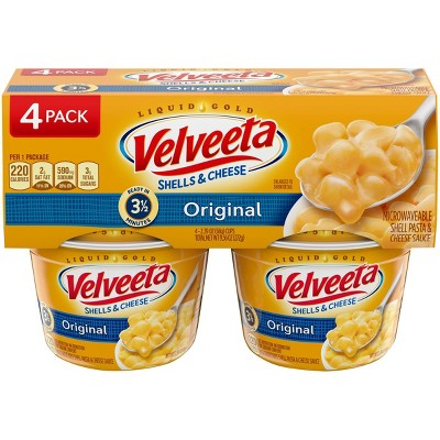 Velveeta Vegetarian Velveeta Shells & Cheese Original - 9.56oz/4ct