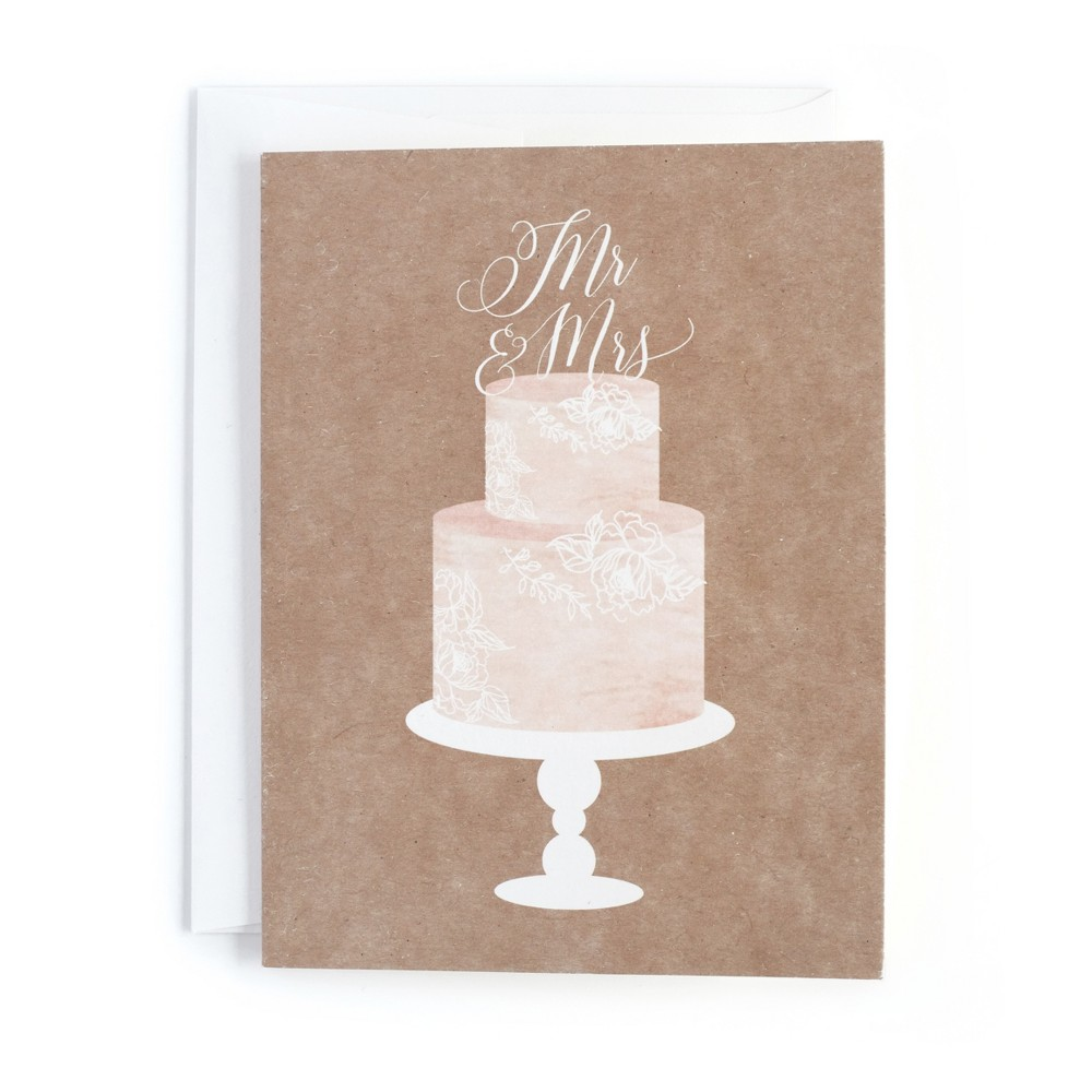 20ct Mr. and Mrs. Cake Topper Print Cards - Minted, Multi-Colored