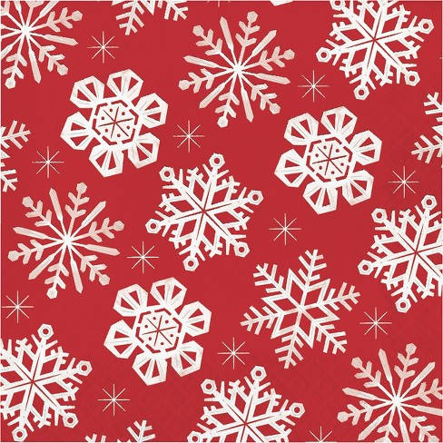 20ct Gather Snowflake Paper Lunch Napkin - Wondershop™ - image 1 of 1