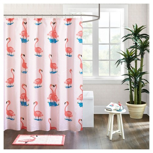 Flamingo Shower Curtain Pink