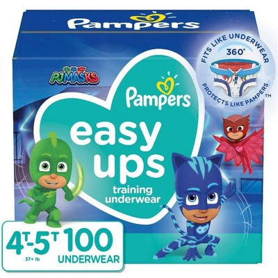 Pampers Easy Ups Boys' PJ Masks Training Underwear Enormous Pack - Size 4T-5T - 100ct