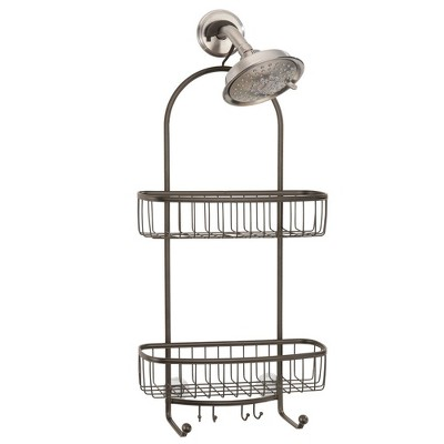 mDesign Large Metal Bathroom Tub/Shower Caddy, Hanging Storage Organizer