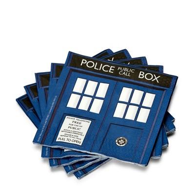 "Seven20 Doctor Who 6.5"" TARDIS Paper Napkins, Set of 20"