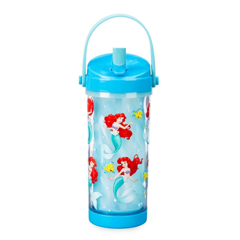 Image of Disney Ariel 10.8oz Plastic Color Change Water Bottle - Disney Store
