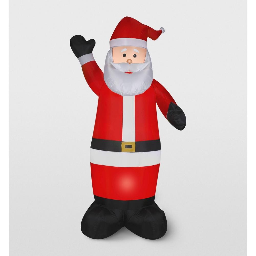 Image of Gemmy Santa Inflatable Holiday Decoration