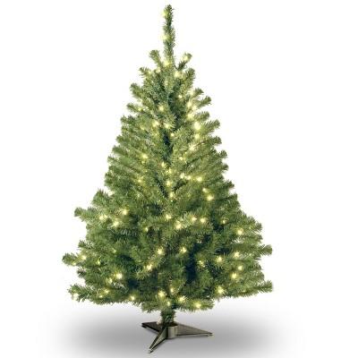 4ft National Christmas Tree Company Pre-Lit Kincaid Spruce Christmas Tree With 100 Clear Lights