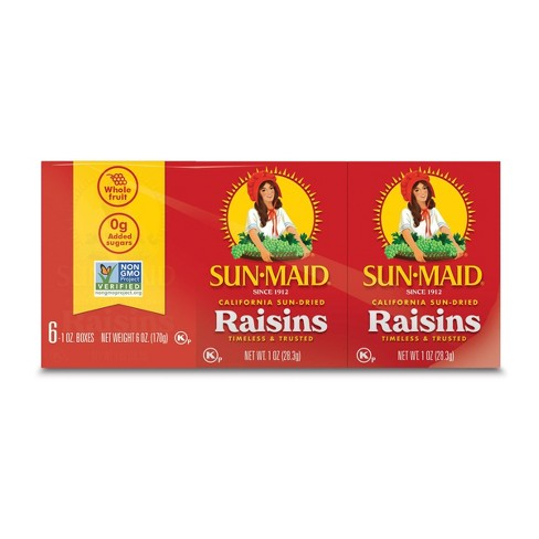 Sun-Maid Raisins - 6ct/1oz - image 1 of 4