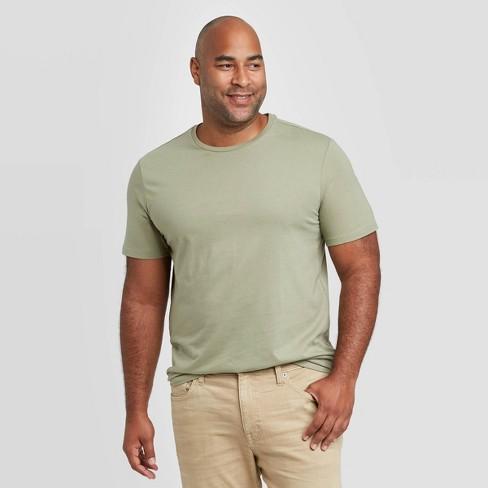 Men's Big & Tall Standard Fit Crew Neck T-Shirt - Goodfellow & Co™ Light Green - image 1 of 3