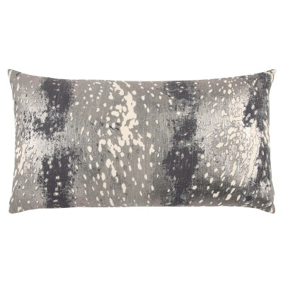 Abstract Striped Pillow Gray - Rizzy Home