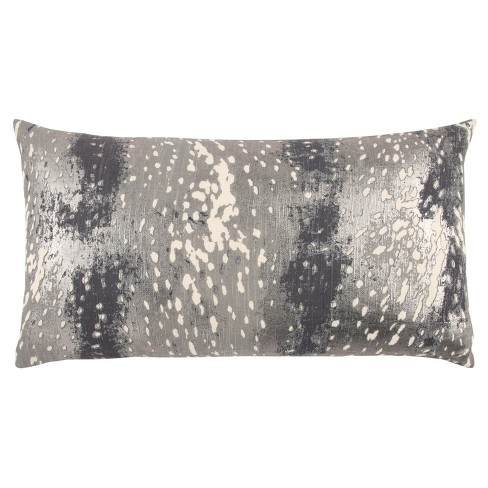Abstract Striped Pillow Gray - Rizzy Home - image 1 of 4
