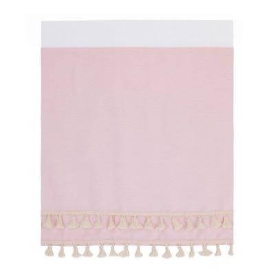 NoJo Serendipity Crib Skirt with Decorative Tassles - Pink