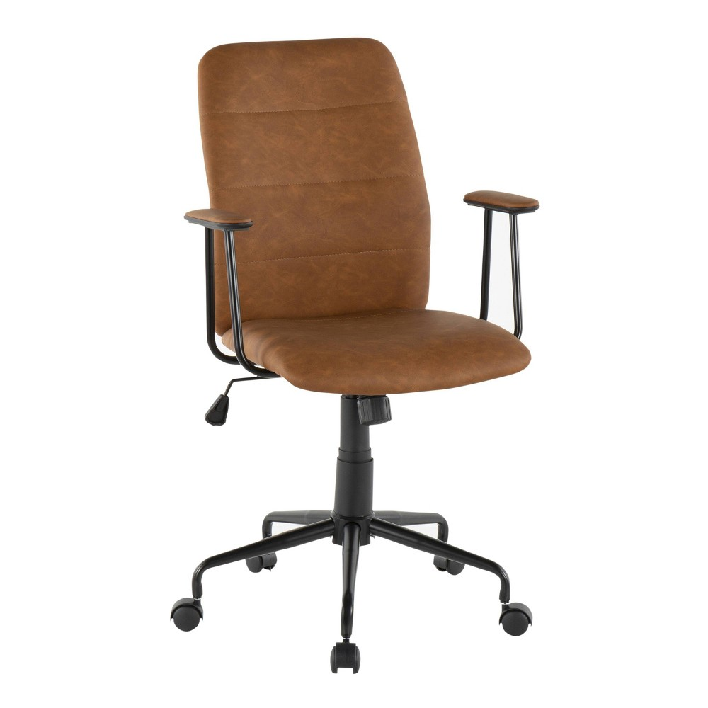 Fredrick Contemporary Office Chair Faux Leather Brown - LumiSource