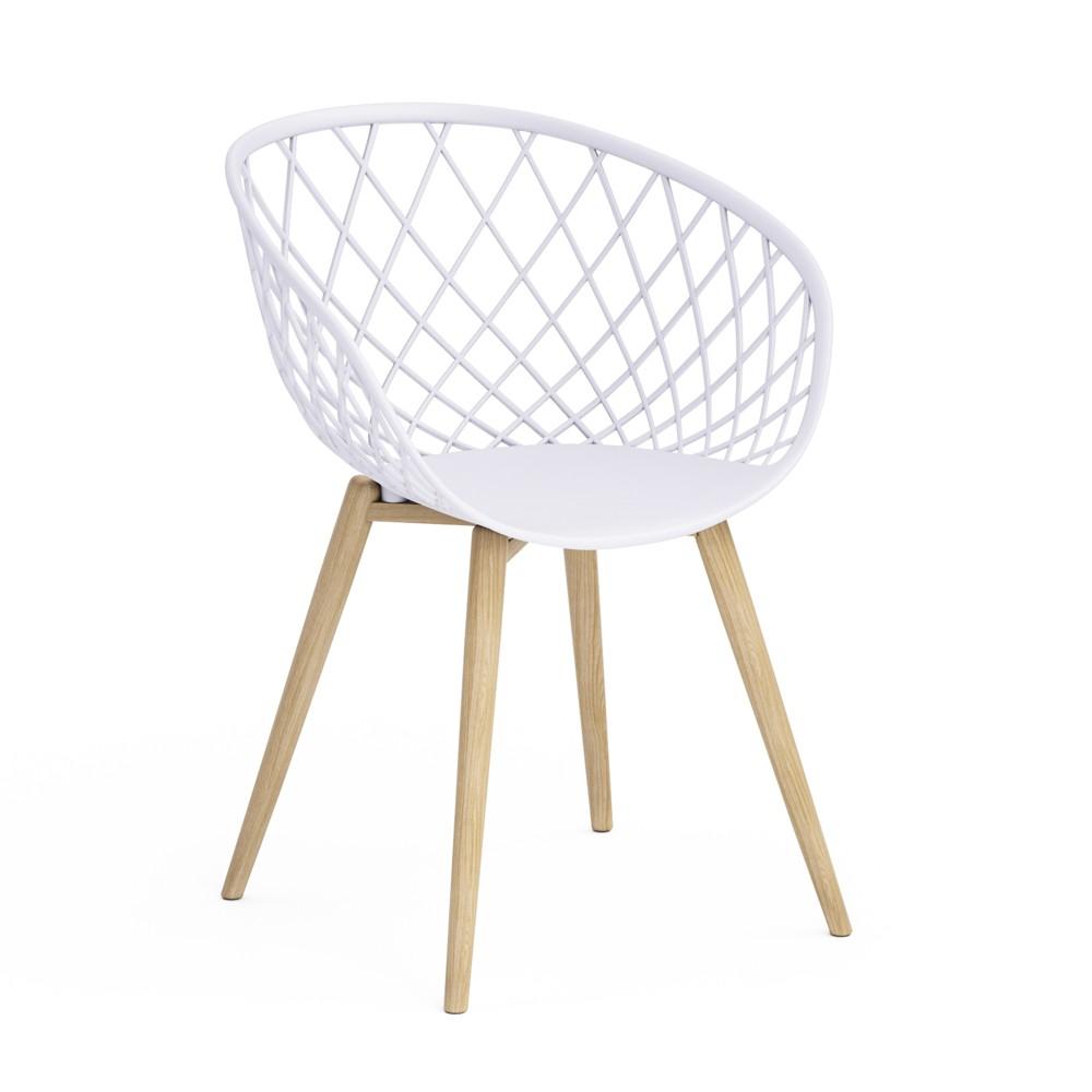 Image of Set of 2 Kurv Chair White - Jamesdar