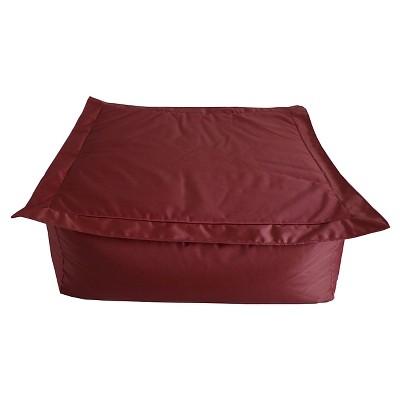 Ace Bayou Outdoor Bean Bag Ottoman - Red