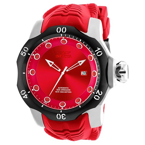 Men's Invicta 19302 Venom Automatic 3 Hand Red Dial Strap Watch - Red - image 1 of 1