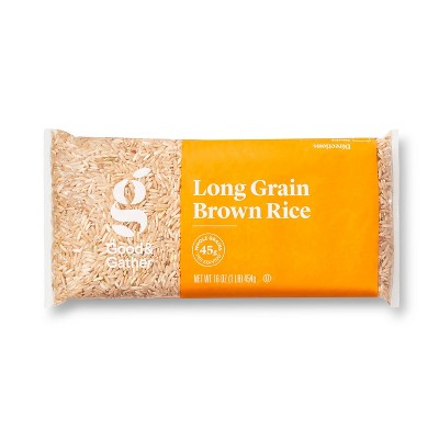 Rice: Good & Gather Long Grain Brown Rice