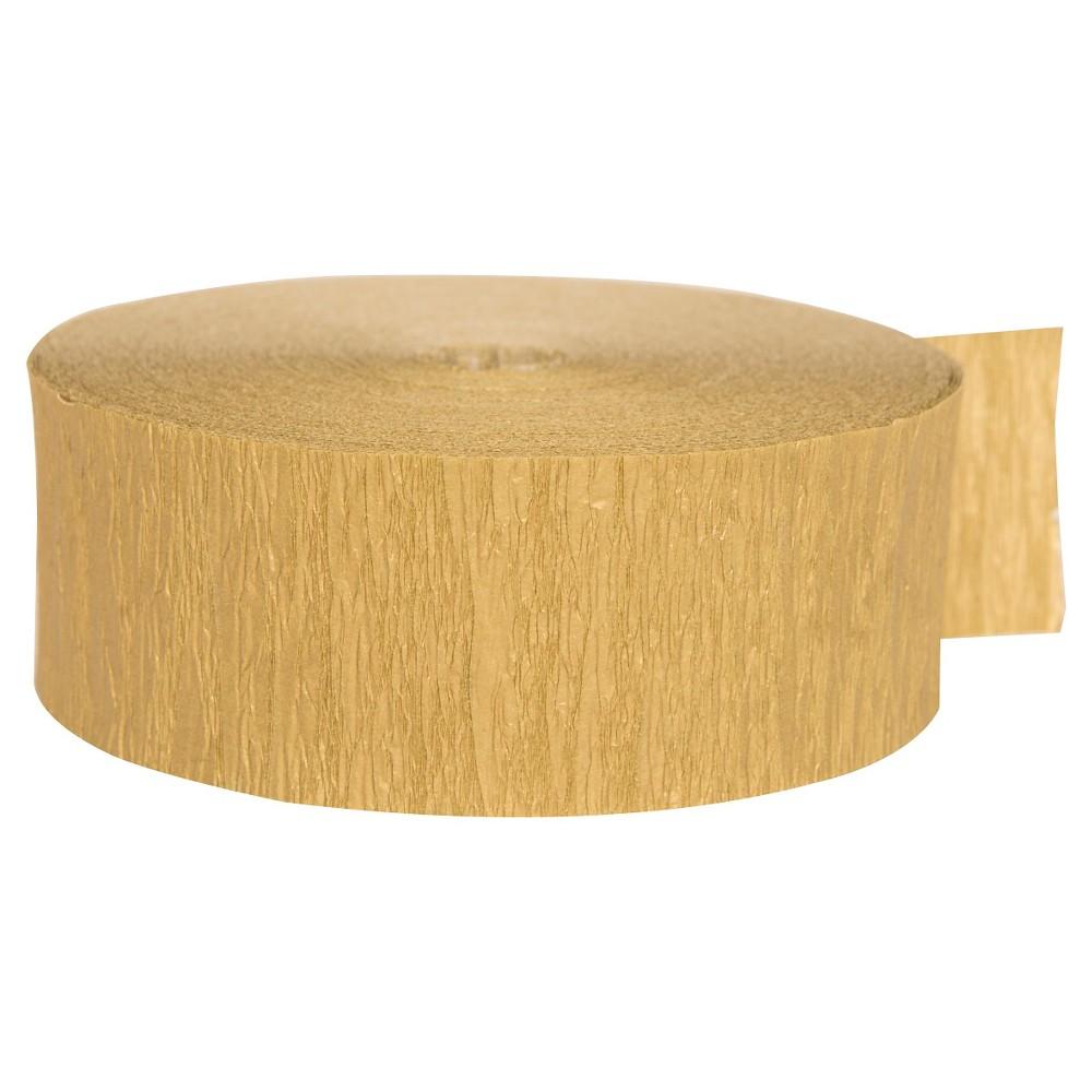 Gold Crepe Streamer - Spritz
