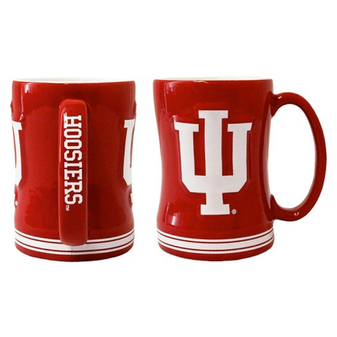 Indiana Hoosiers Boelter Brands 2 Pack Sculpted Relief Style Coffee Mug - Red/ White (15 oz) - image 1 of 1