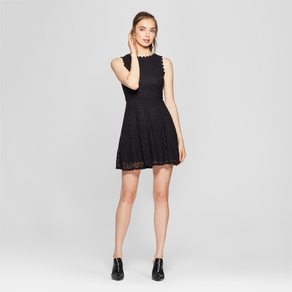 Women's Sleeveless Lace Dress - Lily Star (Juniors') Black XL