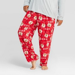 Men's Holiday Rudolph the Red-Nosed Reindeer Fleece Pajama Pants - Red