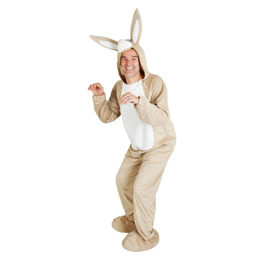 Adult Bunny Costume Brown L - Spritz, Adult Unisex