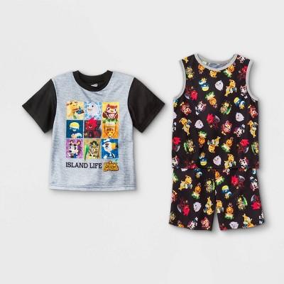 Boys' Animal Crossing 3pc Pajama Set - Black/Brown