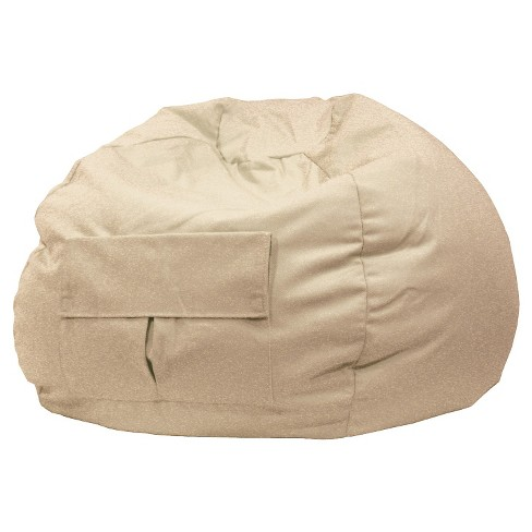 Gold Medal Bean Bag Chair Denim Look with Cargo Pocket - Khaki - image 1 of 1