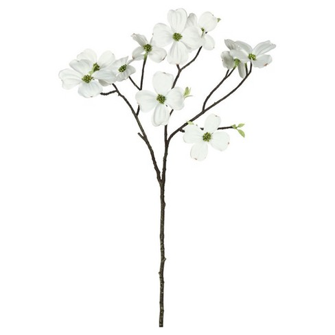 "Artificial Single Dogwood (Pk/3) (28"") White - Vickerman - image 1 of 1"