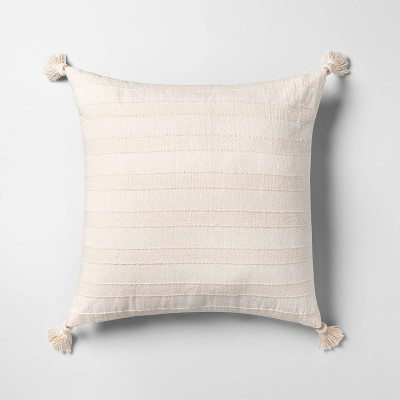 Oversized Square Washed Stripe Pillow Cream - Opalhouse™