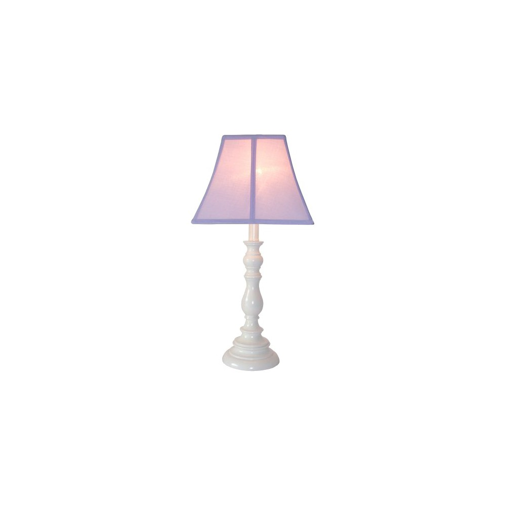 Image of White Resin Table Lamp - Purple