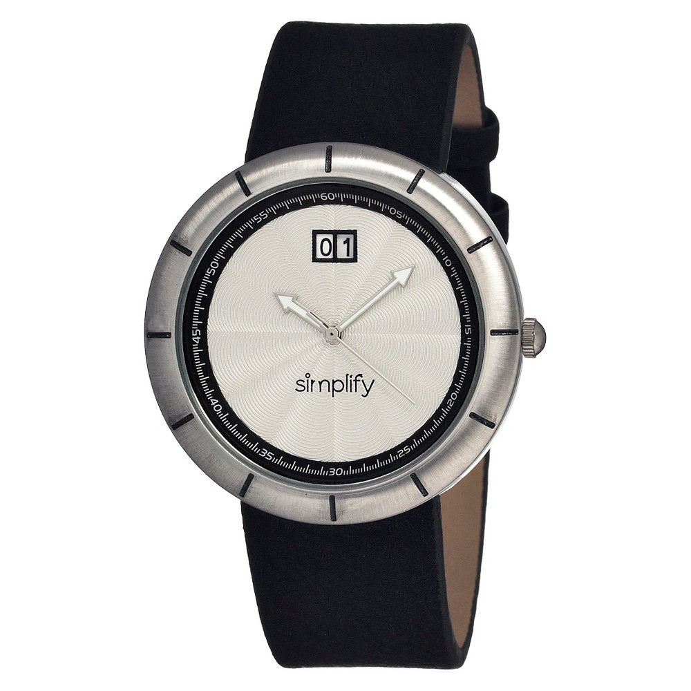 Women's Simplify the 1300 Watch with Engraved Sunray Dial - Silver