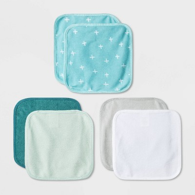 Baby Boys' 6pk Basic Washcloth Set - Cloud Island™ Turquoise