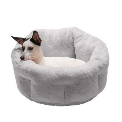 FurHaven Luxury Faux Fur Warming Hi-Lo Ciddler Bed