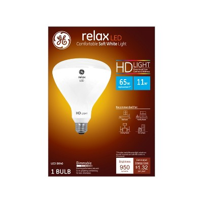 General Electric 65W Ca Relax LED Light Bulb SW BR40 Dimming Long Life