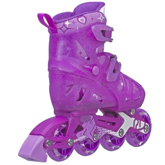 Roller Derby Tracer Girls' Adjustable Inline Skate - Purple - Small (12-1), Girl's image number null