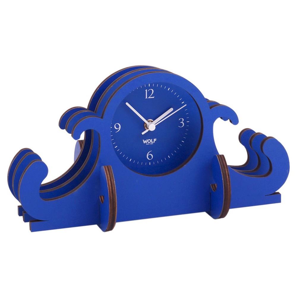 Jigsaw Mantel Clock Blue - Wolf