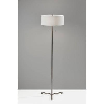 Wesley Floor Lamp Silver - Adesso