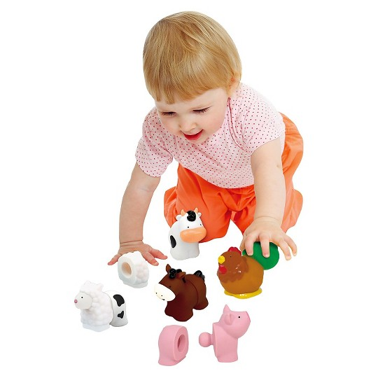 Melissa & Doug Pop Blocs Farm Animals Educational Baby Toy - 10 Linkablepc image number null