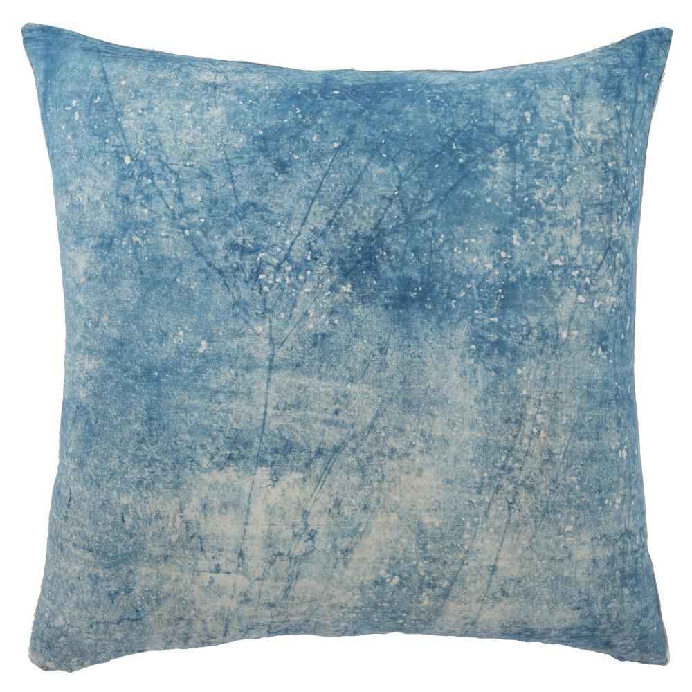 Lestanne Handmade Solid Oversize Square Throw Pillow Blue/White - Jaipur Living